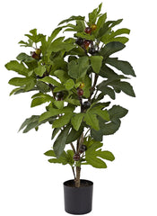 5440 Carica Fig Artificial Plant with Planter by Nearly Natural | 32 inches