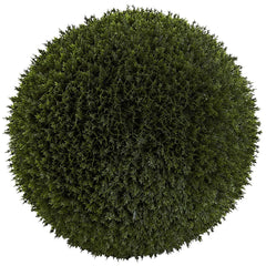 6807 Cedar Indoor Outdoor Silk Ball Topiary Plant by Nearly Natural | 14""