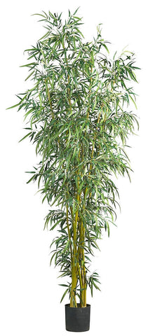 5195 Fancy Style Bamboo Silk Tree with Planter by Nearly Natural | 8 feet