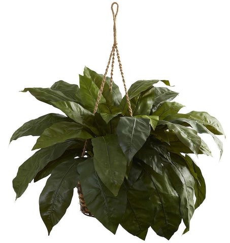 6787 Giant Bird's Nest Fern Silk Hanging Basket by Nearly Natural | 36""