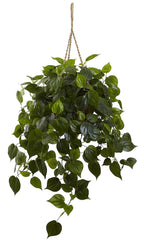 6853 Philodendron Indoor Outdoor Silk Hanging Plant by Nearly Natural |3 ft