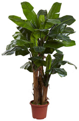 5434 Triple Stalk Banana Indoor Outdoor Silk Tree by Nearly Natural | 7 ft