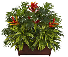 6833 Tropical Garden Artificial Arrangement by Nearly Natural | 30 inches
