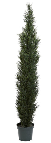 5429 Two-Tone Cedar Pine Silk Topiary Tree by Nearly Natural | 7 feet