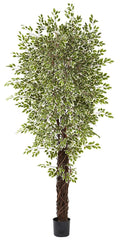 5431 Variegated Weeping Fig Ficus Silk Tree by Nearly Natural | 7.5 feet