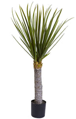 5438 Yucca Artificial Silk Plant with Planter by Nearly Natural | 3 feet