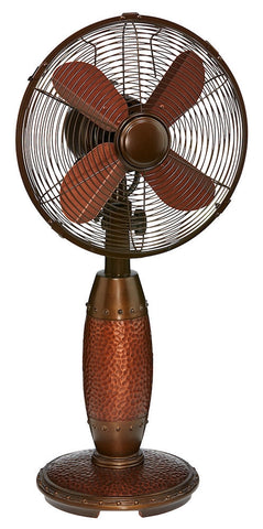 DOH2944 Rhythm 10 inch Decorative Oscillating Table Desk Fan by Deco Breeze