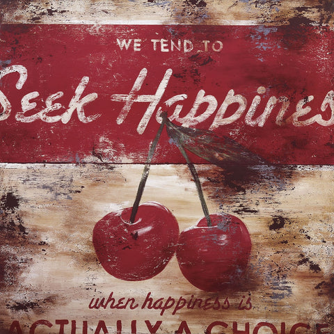 Seek Happiness | Open Edition Stretched Canvas Art