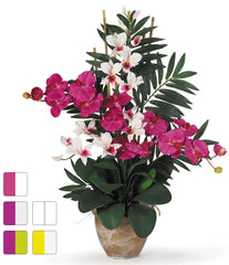 1071 Phalaenopsis Dendrobium Orchids in 5 colors by Nearly Natural | 29""