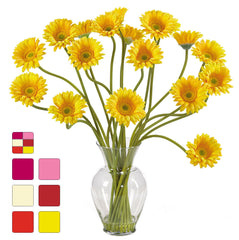 1086 Silk Gerber Daisy in Water in 7 colors by Nearly Natural | 21 inches