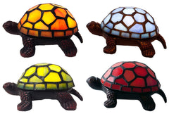 12871S 13471S 12809S 13470S Turtle Wireless LED Stained Glass Lamp in 4 Colors by River of Goods