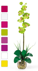 1104 Silk Phalaenopsis in Water in 8 colors by Nearly Natural | 27 inches