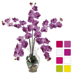 1106 Silk Phalaenopsis in Water in 8 colors by Nearly Natural | 31 inches