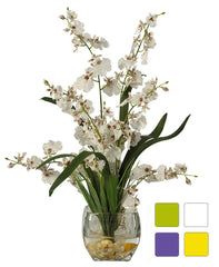 1119 Oncidium Dancing Lady Silk in Water in 4 colors by Nearly Natural| 19""