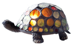 11305 Spotted Turtle Stained Glass Accent Lamp by River of Goods | 6.8 inches