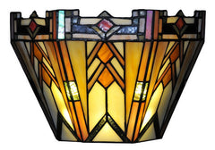 14570S Adobe Mission 9-Light Wireless Stained Glass Sconce by River of Goods