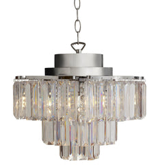 14884S Cascading Prism 4-Light Wireless Chandelier Remote by River of Goods