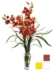 1183 Silk Cymbidium Orchids in Water in 3 colors by Nearly Natural | 30""