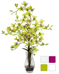 1190 Silk Dendrobium in Water in 4 colors by Nearly Natural | 29 inches