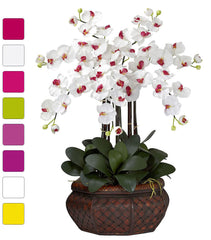 1201 Large Phalaenopsis Silk Orchid in 8 colors by Nearly Natural | 30""