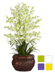 1207 Oncidium Dancing Lady Silk Orchid in 4 colors by Nearly Natural | 30""