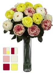 1219 Pastels Fancy Silk Roses in Water in 6 colors by Nearly Natural | 31 inches