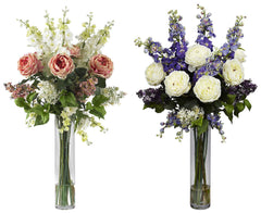 1220 Rose Delphinium Lilac in Water in 2 colors by Nearly Natural | 38""