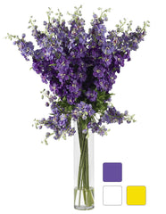 1224 Silk Delphinium in Water in 3 colors by Nearly Natural | 38 inches