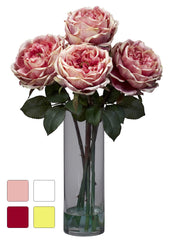 1247 Fancy Silk Roses in Water in 4 colors by Nearly Natural | 18 inches