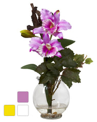 1275 Mini Silk Cattleya in Water 3 colors by Nearly Natural | 14.5 inches