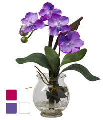 1276 Mini Silk Vanda in Water in 3 colors by Nearly Natural | 15 inches