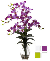 1292 Silk Dendrobium in Water in 4 colors by Nearly Natural | 23 inches