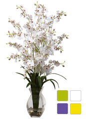 1294 Oncidium Dancing Lady Silk in Water in 4 colors by Nearly Natural| 25""