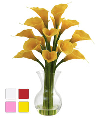1299 Calla Lily Silk Flowers in Water in 4 colors by Nearly Natural | 26""