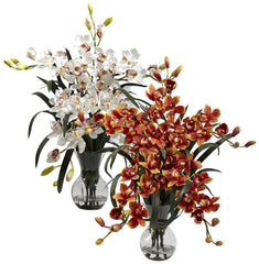 1300 Large Silk Cymbidium in Water in 2 colors by Nearly Natural | 34""