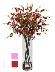 1316 Silk Cherry Blossoms in Water in 3 colors by Nearly Natural | 38""