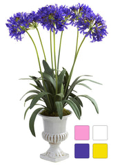 1332 African Lily Silk Plant Urn in 4 colors by Nearly Natural | 34 inches