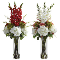 1337 Giant Mixed Floral in Water in 2 colors by Nearly Natural | 4 feet
