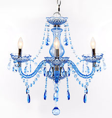 13717 Jeweled Sapphire 3-Light Portable Chandelier by River of Goods