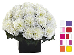 1372 Carnation Silk Arrangement w/Planter 10 colors by Nearly Natural | 11""