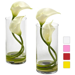 1390 Double Calla Lily S/2 Silk Flowers 4 colors by Nearly Natural | 10.5""