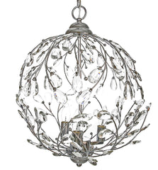 15025 Garden Glam Crystal 3-Light Portable Plug-in Pendant by River of Goods
