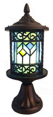 15086S Geometric 10-Light Wireless LED Stained Glass Outdoor Lantern by River of Goods