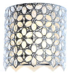 15556S Poetic Wanderlust by Tracy Porter Fairlea Clear Jeweled 9-Light Wireless LED Wall Sconce by River of Goods