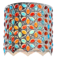 15557S Poetic Wanderlust by Tracy Porter Fairlea Multi-Color Jeweled 9-Light Wireless LED Wall Sconce by River of Goods