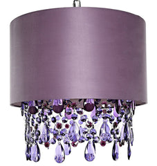 "15562 Poetic Wanderlust by Tracy Porter Alisal Purple Hanging Lamp w/Cascading Crystals | 17.5"" by River of Goods"