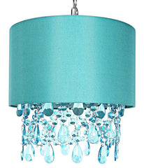 "15563 Poetic Wanderlust by Tracy Porter Alisal Blue Hanging Lamp with Cascading Crystals | 17.5"" by River of Goods"