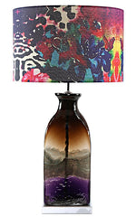 "15564S Poetic Wanderlust by Tracy Porter Roxy Attic Signature Print/Glass Base Table Lamp | 27.75"" by River of Goods"