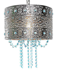 "15566 Poetic Wanderlust by Tracy Porter Mattei Jeweled Hanging Lamp w/Cascading Crystals | 14.5"" by River of Goods"