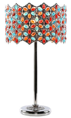 15572 Poetic Wanderlust by Tracy Porter Fairlea Multi-Color Jeweled Table Lamp | 23 inches by River of Goods